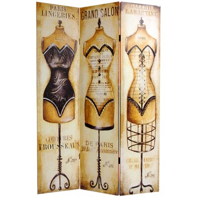 Double Sided Mannequin and Singer Canvas Room Divider