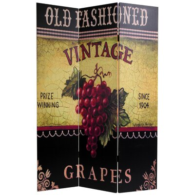Double Sided Grapes and Cherries Canvas Room Divider