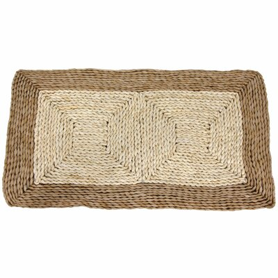 Oriental Furniture Rush Grass and Maize Two Tone Dark Rug