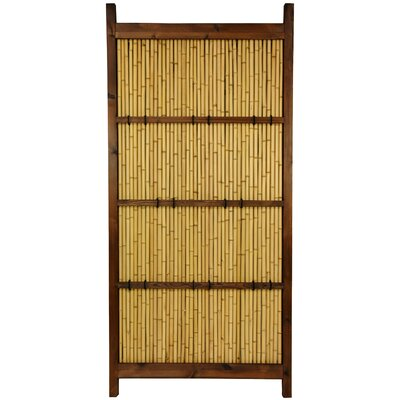 Oriental Furniture Japanese Bamboo 6' x 3' Kumo Fence