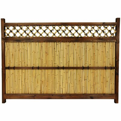 Oriental Furniture Japanese Bamboo 4' x 5.5' Zen Garden Fence