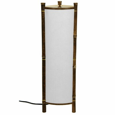 Oriental Furniture Kamakura Japanese Bamboo Table Lamp