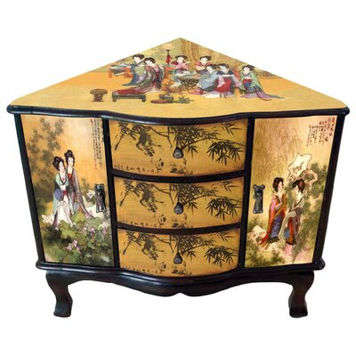Oriental furniture enchanted ladies corner cabinet for Oriental furniture