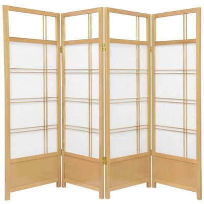 Oriental Furniture Low Kumo Classic Shoji Room Divider in Natural