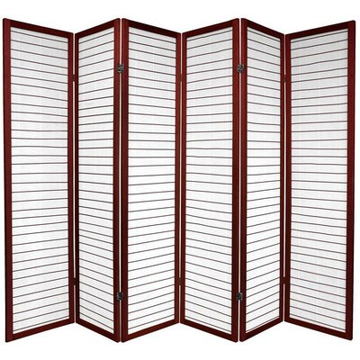 Oriental Furniture Rice Paper Shoji Room Divider in Rosewood