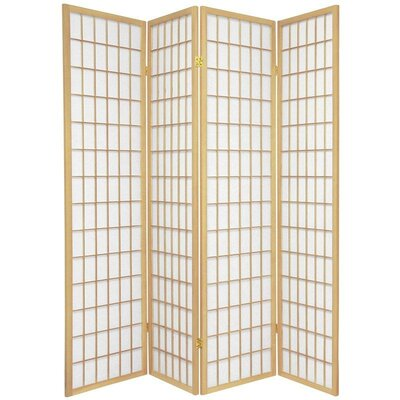 Oriental Furniture Double Sided Window Pane Room Divider in Natural