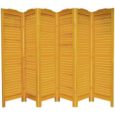 "Oriental Furniture 72"" Classic Venetian Room Divider in Honey"