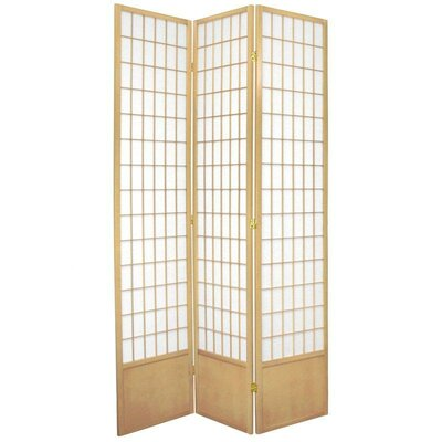 Oriental Furniture Window Pane Shoji Room Divider in Natural