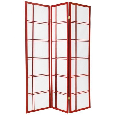 Double Cross Shoji Screen in Red