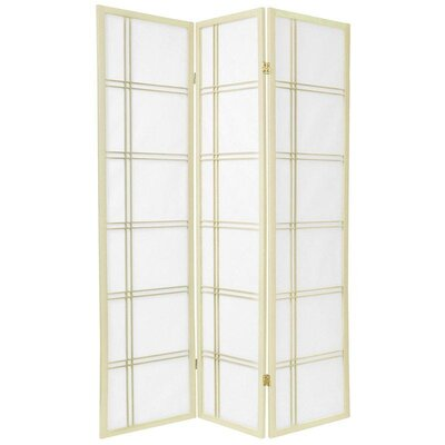 Double Cross Shoji Screen in Ivory