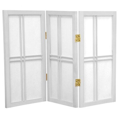 2 Feet Tall Desktop Double Cross Shoji Screen in White