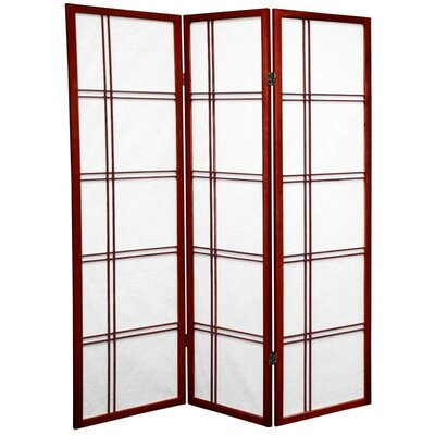 5 Feet Tall Double Cross Shoji Screen in Rosewood