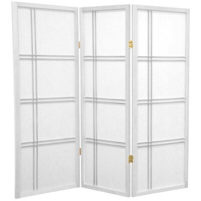 4 Feet Tall Double Cross Shoji Screen in White