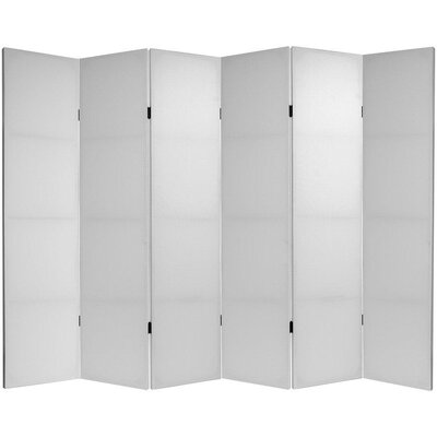 6 Feet Tall Do It Yourself Canvas Room Divider with Six Panel