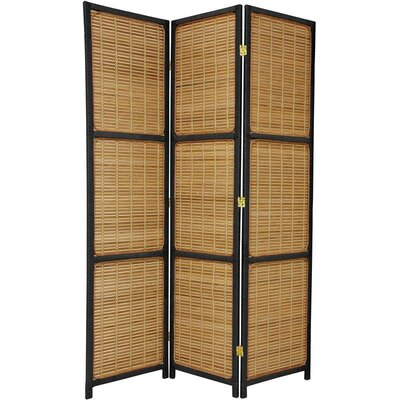 Oriental Furniture Woven Accent Room Divider in Black