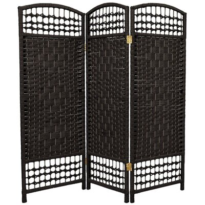 "Oriental Furniture 47.25"" x 48"" Fiber Weave 3 Panel Room Divider"