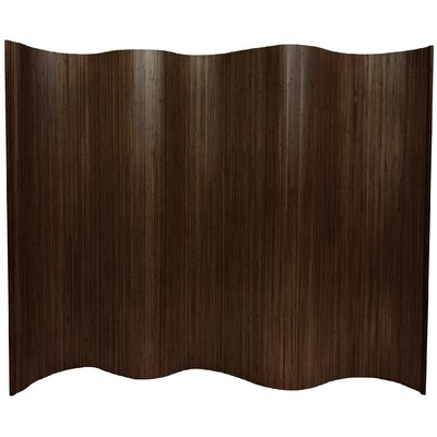 "Oriental Furniture 72.25"" Tall Bamboo Wave 1 Panel Room Divider"
