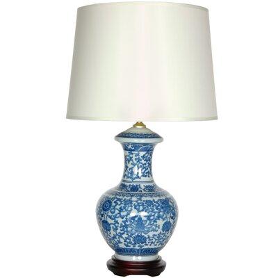 Oriental-Furniture-Porcelain-Round-Vase-