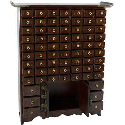 Oriental Furniture Korean 63 Drawer Apothecary Chest