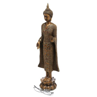 "Oriental Furniture 20"" Standing Thai Buddha Statue"