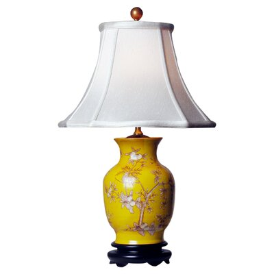 Oriental Furniture Birds and Flowers Vase Table Lamp