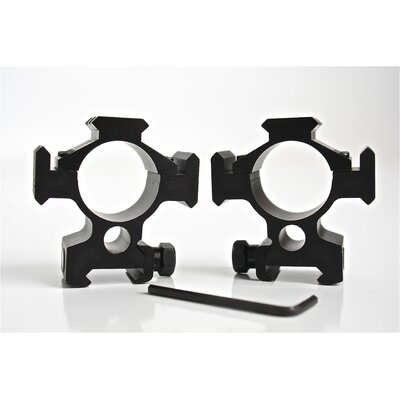 CounterSniper Scope Mount Set with Picatinny Rail - 30mm