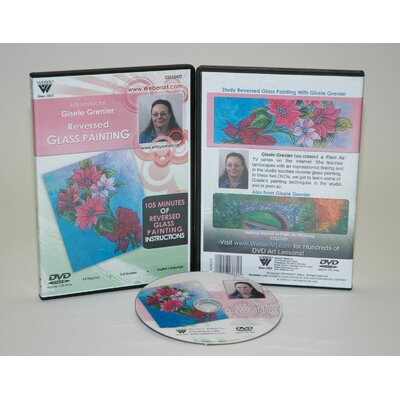 Weber Art GRENIER DVD REVERSED GLASS PAINTING, FUNDAMENTALS ACRYLIC PAINTING 1.5 HOUR