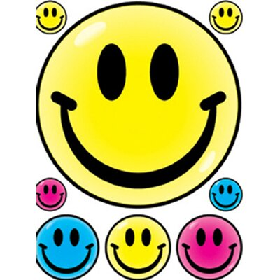 Eureka! Window Cling Smile Faces 12 X 17