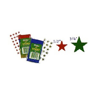 Eureka! Stickers Foil Stars 1/2 In 250/pk
