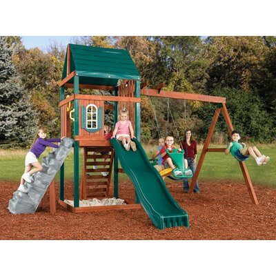 Swing-n-Slide Brentwood Wood Complete Swing Set