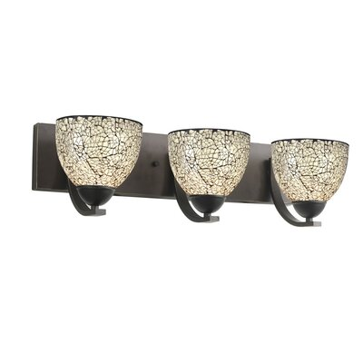 Woodbridge Lighting North Bay Three Light Bath Bar in Metallic Bronze