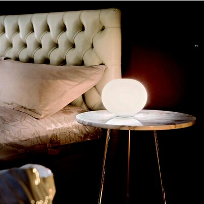 """FLOS Glo-Ball Basic Zero 6.29"""" H Table Lamp with Round Shade"""