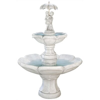 Henri Studio Figurine Cast Stone Medium April Showers Tiered Fountain