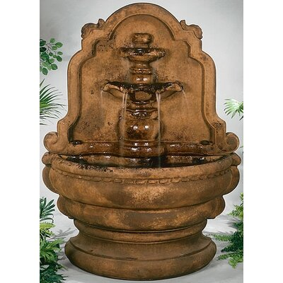 Henri Studio Wall Cast Stone Grand Tier-Relief Lavabo Fountain