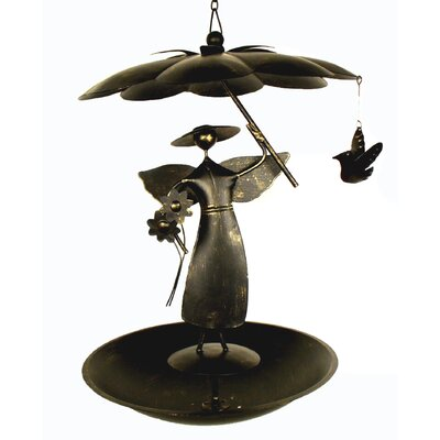 Blue Handworks Garden Angel Feeder Flat Bottom