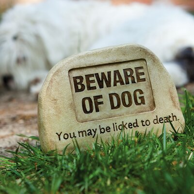 Evergreen Enterprises, Inc Beware of Dog Tiding Stepping Stone