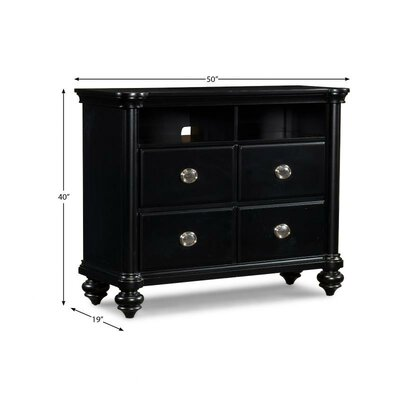 Klaussner Furniture Danbury 4 Drawer Media Chest