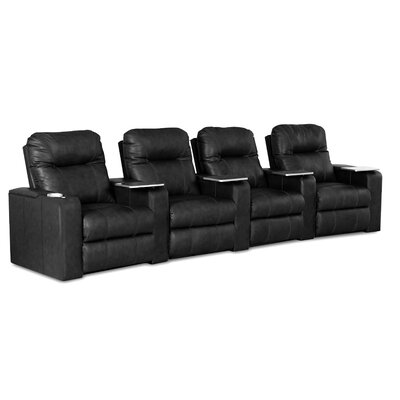 Palace Home Theater Bonded Leather Recliner (Row of 4)