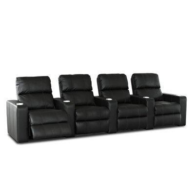 Studio Home Theater Bonded Leather Recliner (Row of 4)