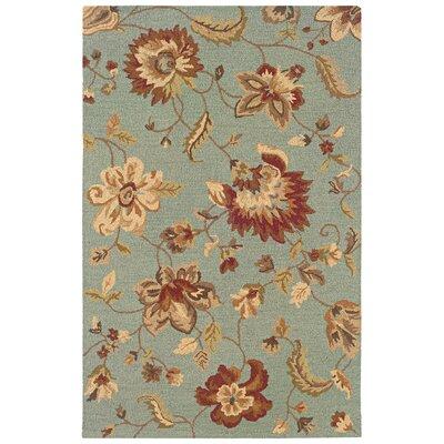 Dazzle Silken Blue English Jacquards Floral Rug