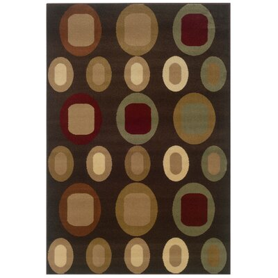 LR Resources Adana Brown Oval Motifs Rug