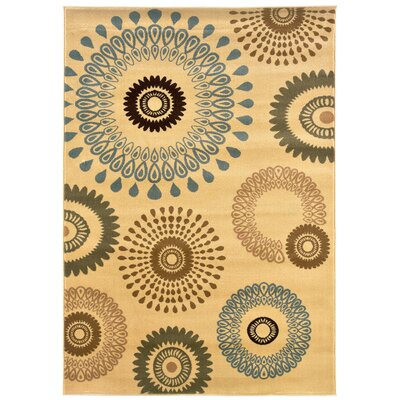 LR Resources Adana Cream Kaleidoscopic Rug