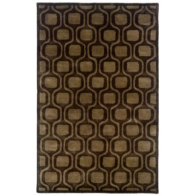 LR Resources Majestic Charcoal Geometric Rug