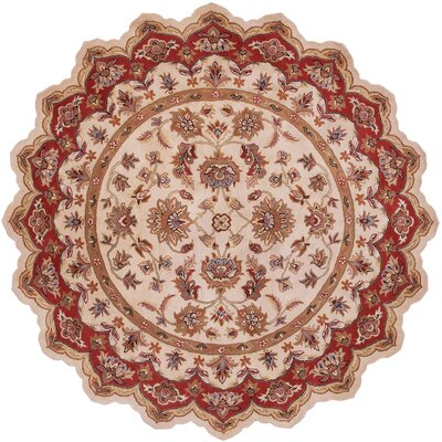 LR Resources Shapes Ivory/Red Persian Rug