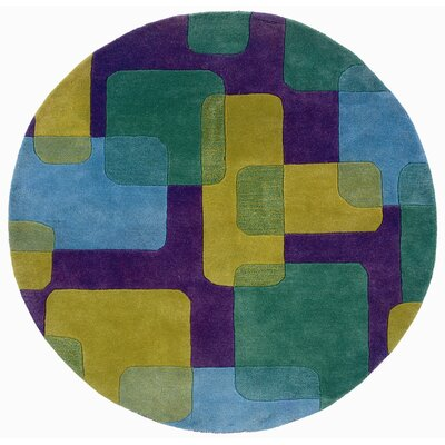 LR Resources Vibrance Purple Squares and Rectangles Rug