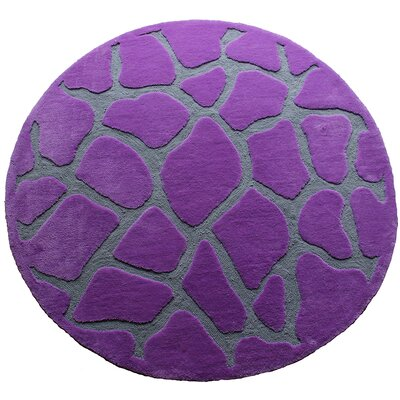LR Resources Fashion Purple Giraffe Rug