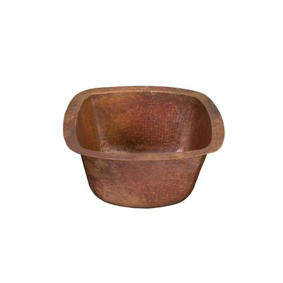 Picasso II Square Hand Hammered Copper Bathroom Sink