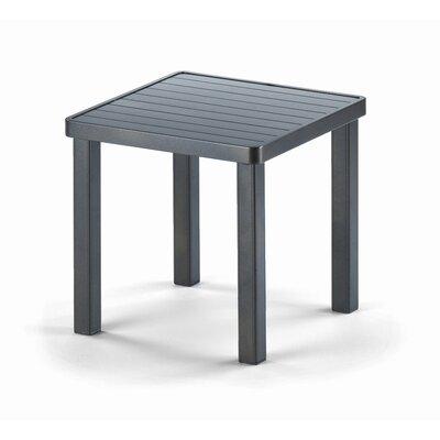 Telescope Casual 18'' Square Aluminum Slat End Table