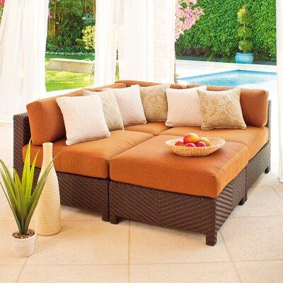 La Vie Deep Seating Sectional Sofa with Cushion