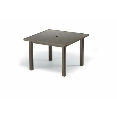 42'' Square Aluminum Slat Dining Height Table
